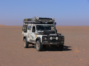 Elsa the Land Rover in Algeria