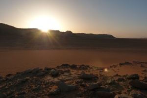 Sunrise in the Moroccan Sahara