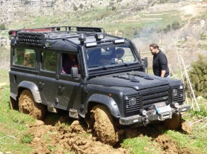 An encounter with springtime mud in the hills of northern Lebanon