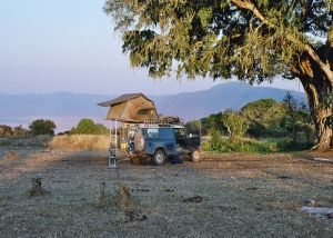 Wild camp on the rim of the Ngorongoro Crater
