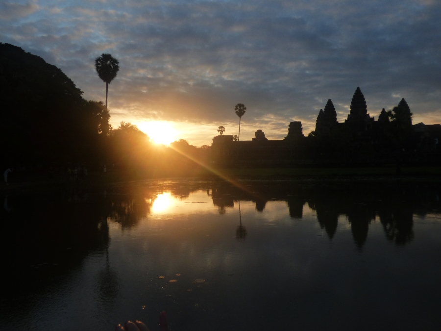 Misty dawn at Angkor Wat
