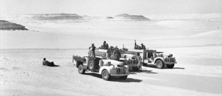 Three-Long-Range-Desert-Group-30-cwt-Chevrolet-trucks
