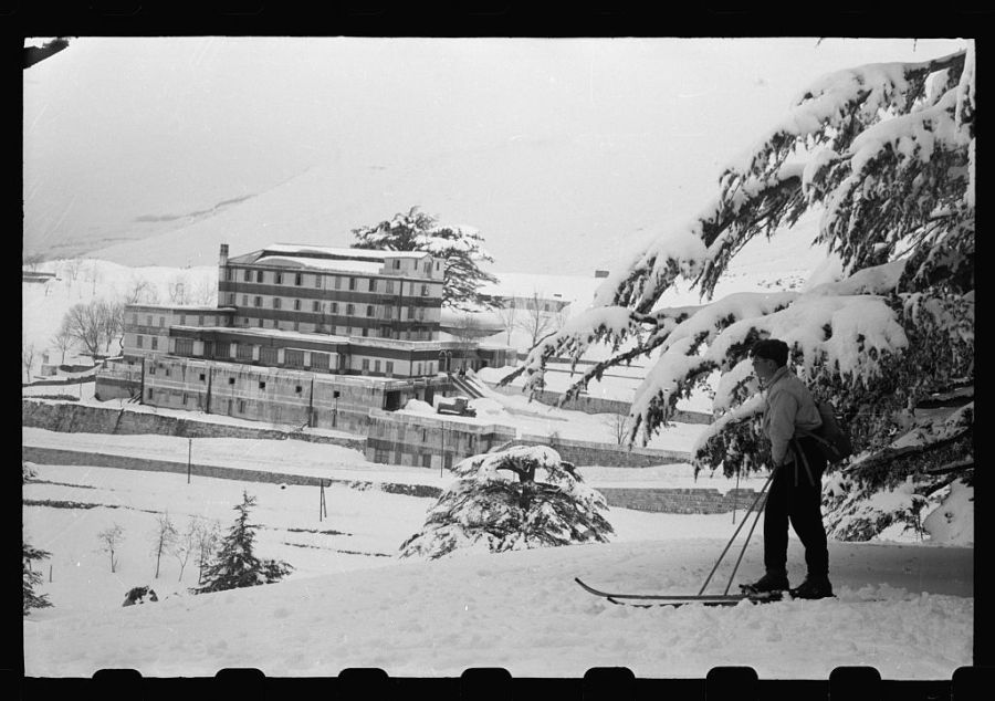 grand-hotel-des-cedres-among-cedars-of-lebanon-in-snow-skier-in-foreground-1024