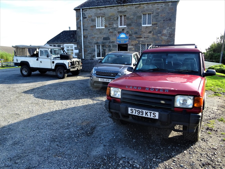 Parking rules, North Uist pub